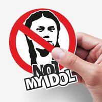 2 Greta Not my Idol Aufkleber Sticker gegen Fridays f Future CO2 Klimawahn FfF!