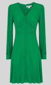 Whistles, Size 10, Green short, lightweight, button through dress, new (no tags)