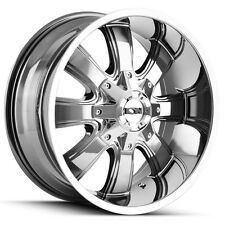 4-NEW Ion 189 17x9 6x135/6x139.7 +18mm PVD Chrome Wheels Rims