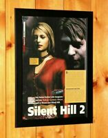Silent Hill 2 Very Rare Small Poster / Vintage Ad Page Framed PS2 Xbox Konami