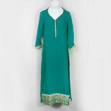 NWT SOCH Long Kurti Top Green Gold Kurta Ethnic India Tunic Womens XS 2610X