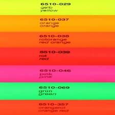 12,90€/m² Neon Plotterfolie Oracal 6510 Folie Neonfolie Fluorescent Cast Orafol