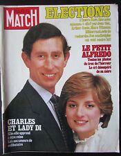 PARIS MATCH 1981  LADY DIANA AUDREY HEPBURN JACKY ICKX HUSSEIN JORDANIE ELECTION