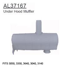 AL37167 John Deere Parts Under Hood Muffler 3050, 3350, 3640, 3040, 3140