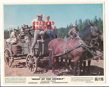 NIGHT OF THE GRIZZLY Small Lobby Card - CLINT WALKER MARTHA HYER DON HAGGERTY  7