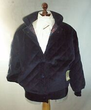 Paddock Blu scuro Velluto a Coste Giacca Taglia Large Made in England