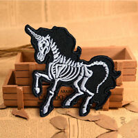 DIY Embroidered Skull Unicorn Sew On Iron On Patch Badge Applique Craft Transfer
