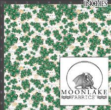 Shamrock Saint Patrick Repeat Fabric 100% Quality Cotton Poplin Fabric