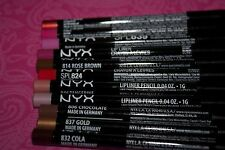 LOT OF 11 NYX Lip Liner Pencil in # 824,816,837,846,806,848,814,852,832,839,835