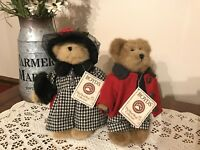 Boyds Bears Bailey and Edmund Fall 2003 Limited Edition with Tags