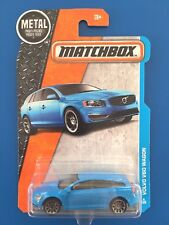 RARE 2016 Matchbox BLUE 2017 VOLVO V60 SPORTS WAGON - mint on long card!