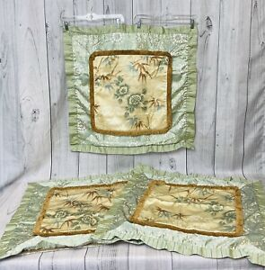 """SOFT SURROUNDINGS EURO 26x26"""" PILLOW SHAM FLORAL BAMBOO USA (3 Available) Nice!"""