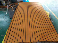 "Marine Boat EVA Teak Decking Sheet Light Brown With Black Stripe 35"" X 94"" 1/4"""