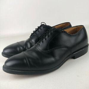 Allen Edmonds Park Avenue Black Leather Cap Toe Oxford Shoes Mens Sz 9.5 E Wide