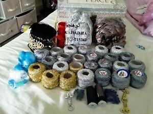 Sewing thread lot spools embroidery tatting polyester thread turkish thread