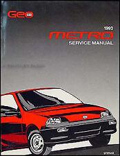 1993 Geo Metro Original Shop Manual 93 EM Repair Service Book XFi LSi