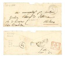 BUSTA DA CASSOLNOVO A MILANO APRILE 1860 TASSA DESTINO (01A/08B)