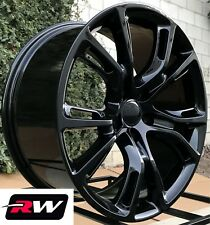 "Dodge Durango Wheels 20"" inch 20x9"" Gloss Black Rims 5x5.00""  5x127 +34"