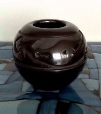 Toni Roller Santa Clara Pot Carved Avonyu Water Serpent Margaret Tafoya