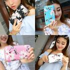 H3E# Women Floral Lady Clutch Wallet Long Purse PU Leather Card Holder Handbag