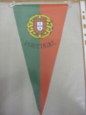 """circa 1970's Portugal National Team: Small Silk Style Pennant [Approx 11""""] Print"""