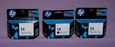 Set of 3 Genuine HP 14 Black (1) &Tri-Color (2) C5011D &C5010D Ink Cartridge-New