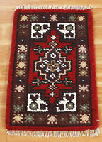 Indian Multicolor Area Wool Rugs Hand Woven Geometric Oriental Carpet 1.5x2
