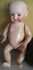 "Vintage 1910s Morimura Brothers 2 7 Bisque Composition Boy Doll 15"" Tall"