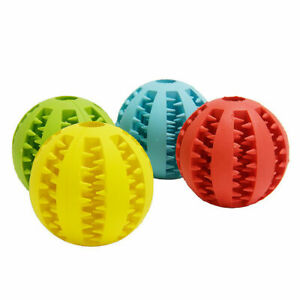 UK Pet Puzzle Toy Food Dispenser Tough-Treat Ball Dog Interactive Puppy Play Toy