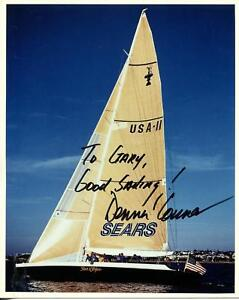 Dennis Conner Autograph Yachtman Signed Photo 1976 Olympics Americas Cup 4 Times
