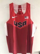 USA Nike Olympic Track Pro Kit Singlet Elite Marathon Running Jersey Oregon