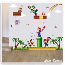 Super Mario Wall Sticker Owl Monkey Jungle Animal Princess Nursery Baby Decal
