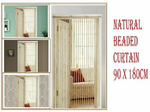 Natural Bamboo Beaded Door Curtain Hanging Summer Insect Fly Screen 90x180cm..