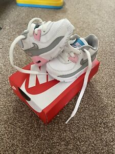 Baby Girl Nike Air Max 90 Lace Trainers- Size 1.5