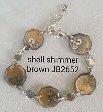 Brighton retired Shell Shimmer brown abalone mop bracelet JB2652 B37