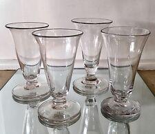 Set of 4 Antique Georgian Glass Wine Stems