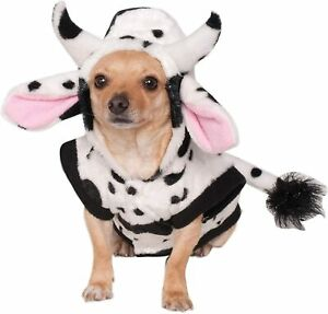 Cow Farm Animal Cute Funny Fancy Dress Up Halloween Pet Dog Cat Costume