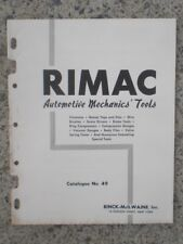Rinck-McIlwaine, Inc. RIMAC Automotive Mechanics' Tools Catalog No. 49 1950's ?