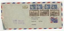 Colombie 9 timbres sur devant de lettre 1948 tampon Cúcuta  /FDCag9