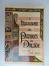 Manuscrit des paroles du druide sans nom et sans visage