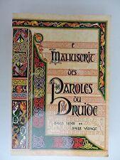 Manuscrit des paroles du druide sans nom et sans visage