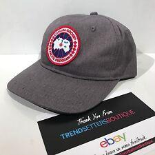 Canada Goose Aufnäher Logo Baseball Cap Mütze Snapback Grau Schwarz S M Herren Unisex