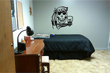Skull with Hatchet Wall Sticker Wall Art Decor Vinyl Decal Mural Sticker Skulls