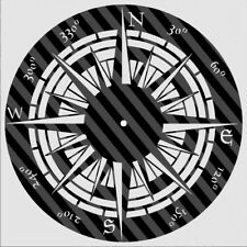 DXF CDR File For CNC Plasma Laser Cut - Compass Clock. Ready to cut