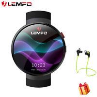 LEMFO Noir LEM7 Smart Watch Camera 4G Network WIFI GPS 16Go Pour Samsung IOS