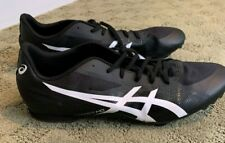 Asics Mens Hyper MD Track Shoes with Spikes, Size 12, Black & White