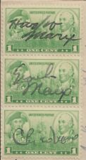 Ca. 1930s HARPO, GROUCHO AND CHICO MARX, SIGNED STAMPS ON AUTOGRAPH REQUEST LETT