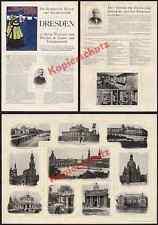 Dresden Touristik Behrens Beutler Architektur Plakat Müller-Breslau Sachsen 1900