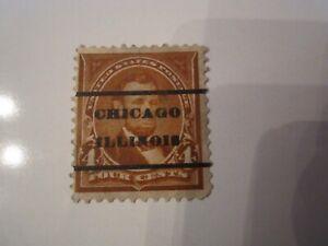 1894 U.S. STAMP SCOTT 254 - OVERPRINT CHICAGO ILLINOIS - UNUSED MINT
