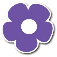 Purple Flower Magnet 5 inch Decal Great for Car Truck SUV or Fridge